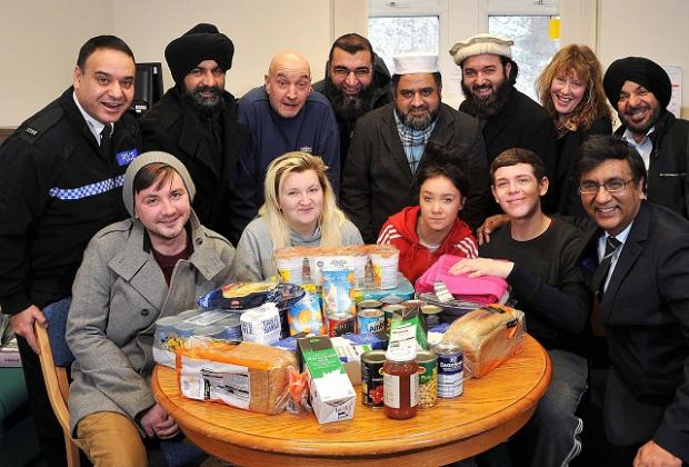 The Guru Gobind temple in Leeds Road in Bradford has given food to a shelter for homeless youngsters