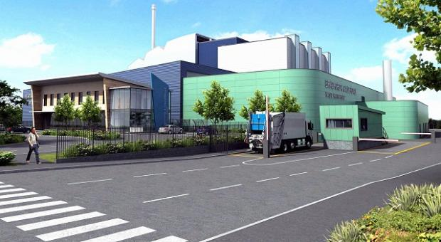 An artist's impression of Pennine Resource Recovery plant in Bowling Back Lane, Bradford