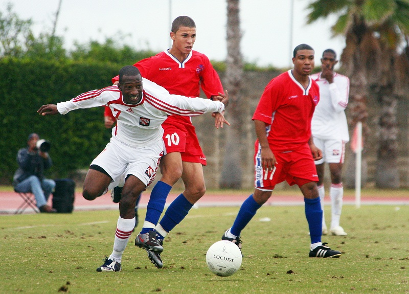 Nahki Wells playing in his native Bermuda as a teenager
