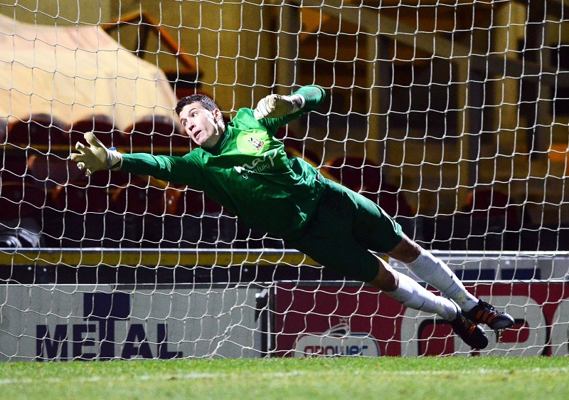 Goalkeeper Jon McLaughlin was one of only two professionals in Bradford City's line-up