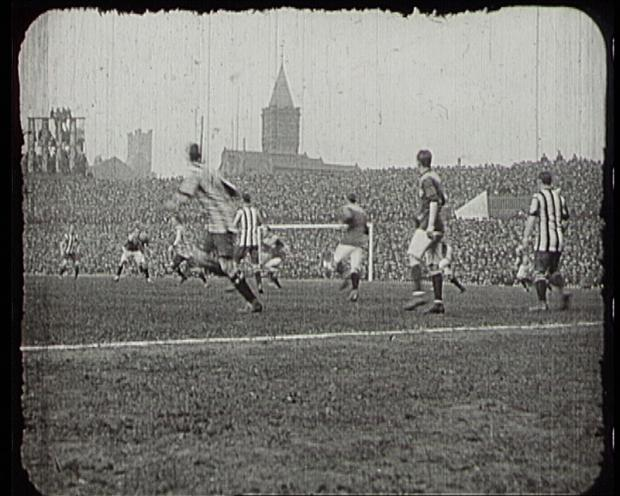 Archive footage shows Bradford City's cup victory in 1911