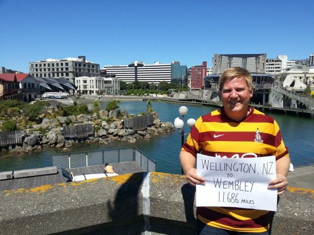 City fan Nick Allan ready for off from his New Zealand home