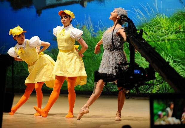 The dancers of the CBeebies' Ugly Duckling, filmed at the Alhambra