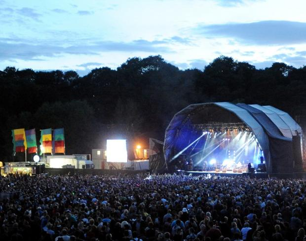 Festival goers crowd around the stage at last year's Bingley Music Live at Myrtle Park