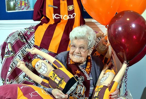 City fan Kathleen Kelly, 96