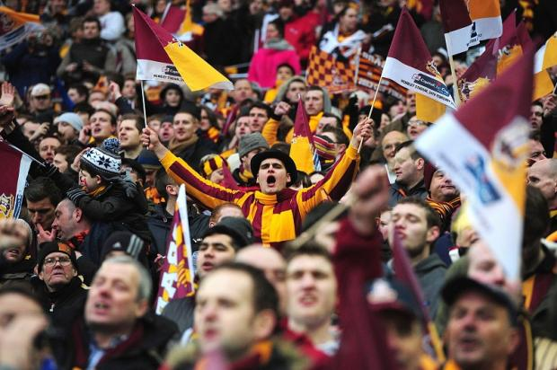Bradford Telegraph and Argus: City's fans stood up for their team