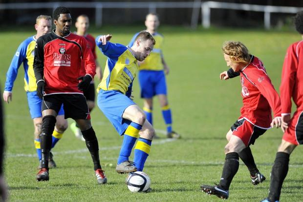 Jonny Cunnington's goal helped put Salts in charge of their Premier Division Cup tie at Ovenden West Riding
