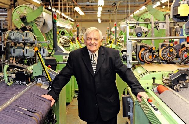 Dennis Allman who has retired from Hainsworth & Sons limited after 63 years of service