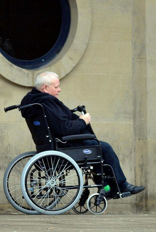 Loan shark James Stone pictured outside Bradford Crown Court