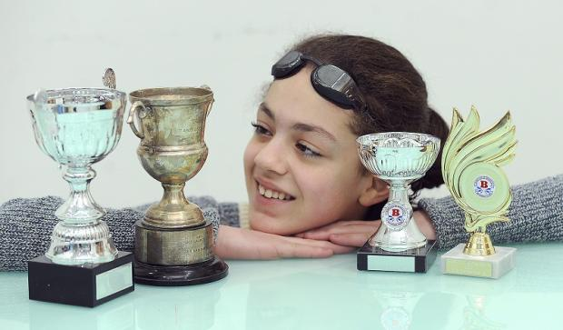 Bradford 10-year-old Hannah swims in memory of her 'lovely nanny'