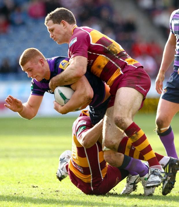Stuart Fielden playing for Huddersfield against Wigan this season