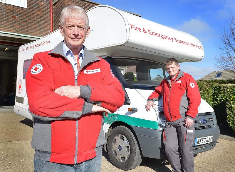 Norman Brickley (left) and Mark Halliday with the emergency support vehicle