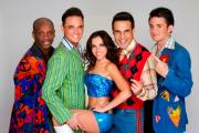 Andy Abraham, Gareth Gates, Louisa Lytton, Chico and Shane Ritchie Jr in Boogie Nights