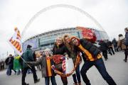 The Bradford fans had a ball, even if the players did not see much of it at Wembley in the Capital One Cup final against Swansea