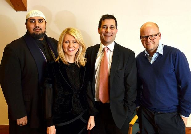 Pictured (from left) are  Mohammed Ansar, Esther McVey, Evan Harris and Toby Young