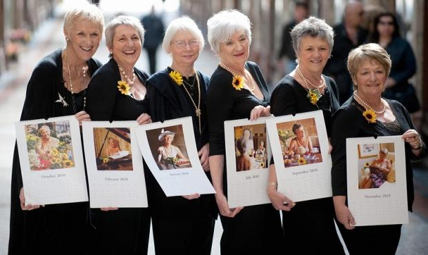 Tricia Stewart, far left, with the rest of the Calendar Girls