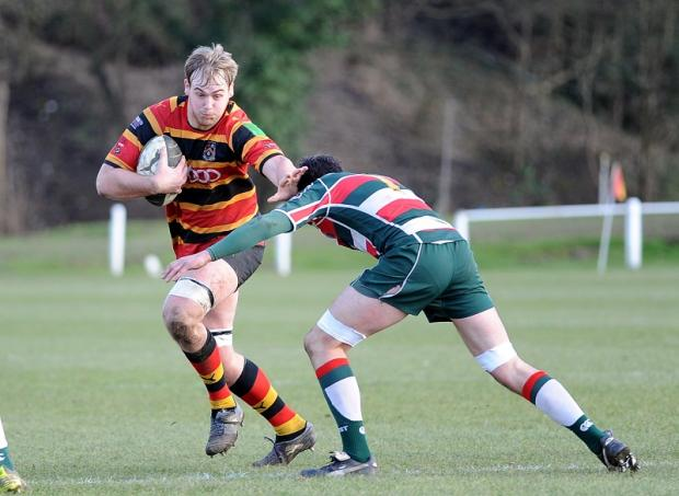 Brett Mitchell goes on the attack for Bradford & Bingley against West Hartlepool