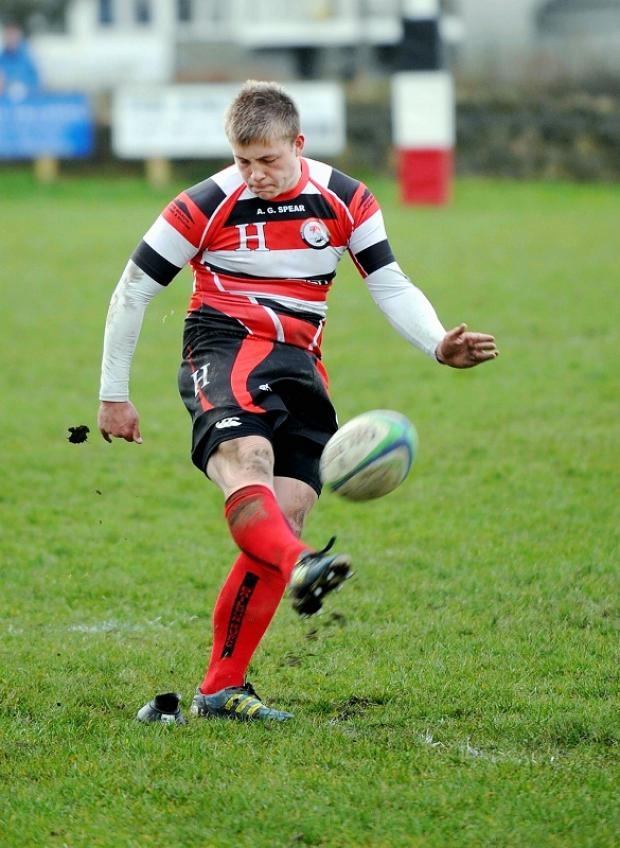 Jake Duxbury was a Baildon try-scorer