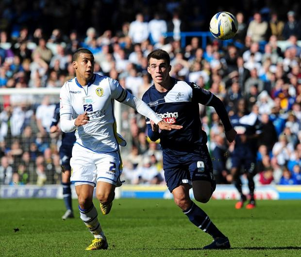 Leeds United skipper Lee Peliter, left in action against Millwall, says every game is massive now for his team as they seek a play-off berth