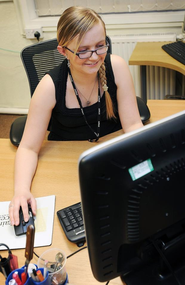 Accountancy apprentice Lucy Mountain