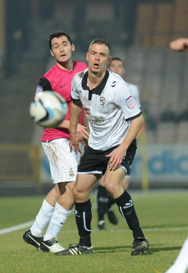 Carl McHugh, left, showed his improvement at left back against Port Vale this week