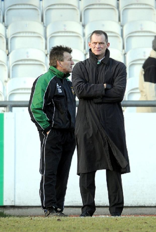 Lee Sinnott, right, next to John Deacey during his spell as Park Avenue boss