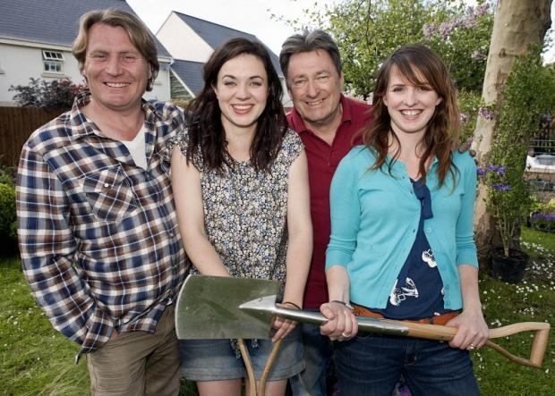 Love Your Garden presenters David Domoney, Frances Tophill, Alan Titchmarsh and Katie Rushworth, of Bingley