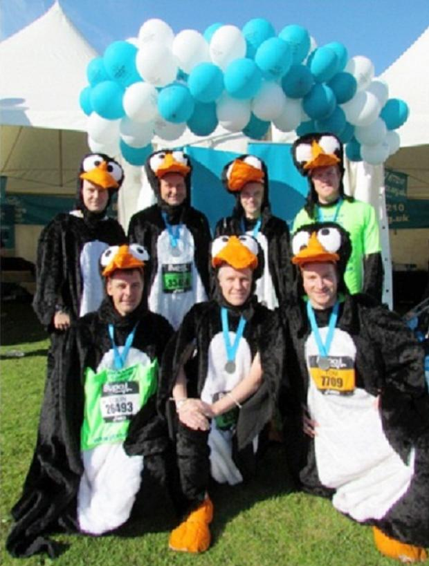 Team Penguin prepares for the Big 10K