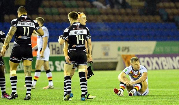 Elliott Whitehead's disappointment shows after the Bulls' draw at Widnes
