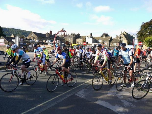 Cyclists taking part in last year's main Otley Sportive event