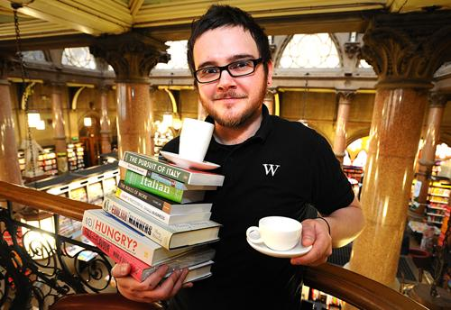 John Holmes from Waterstones new W Cafe