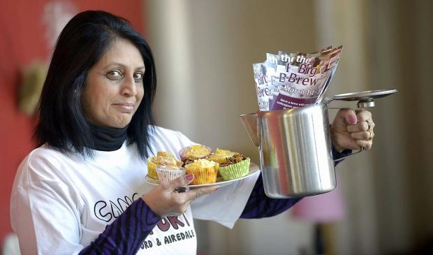 Organiser Chrsitine Kaur brews up a storm for the event