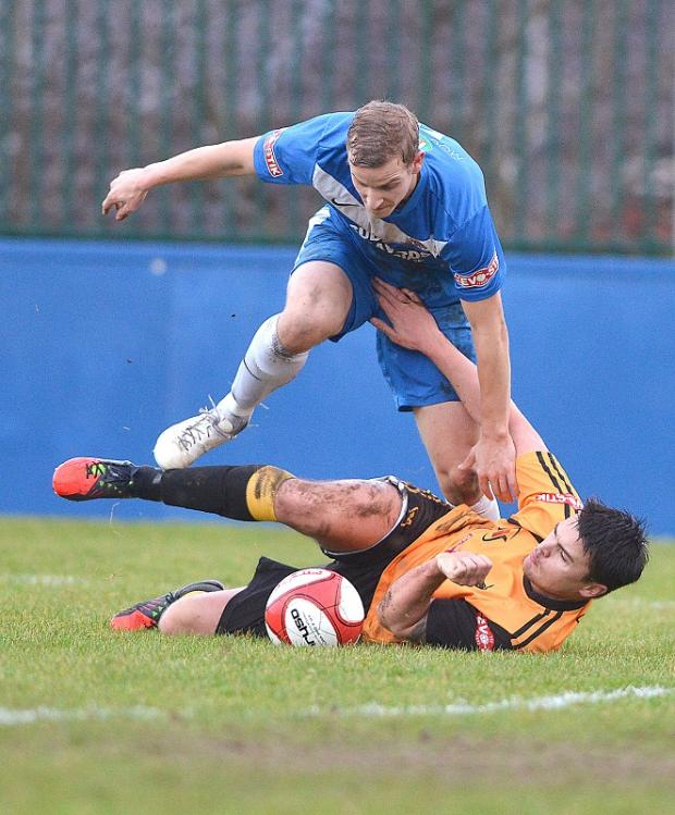 Adam Priestley's opening goal was not enough to give Farsley a first victory since the beginning of February