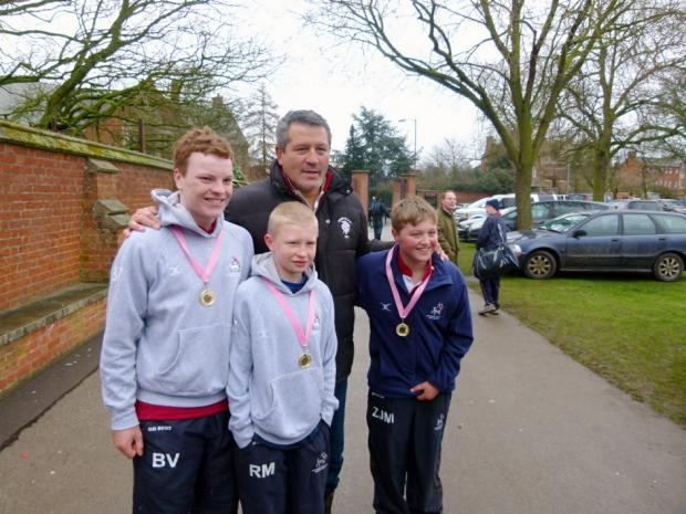 Zinzan Brooke with Barney Vaughan, Rory Macnab and Zander MacFarlane