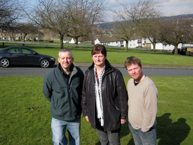 Councillor Kevin Warnes (left), Carole Robinson and Rob Flitcroft at the site