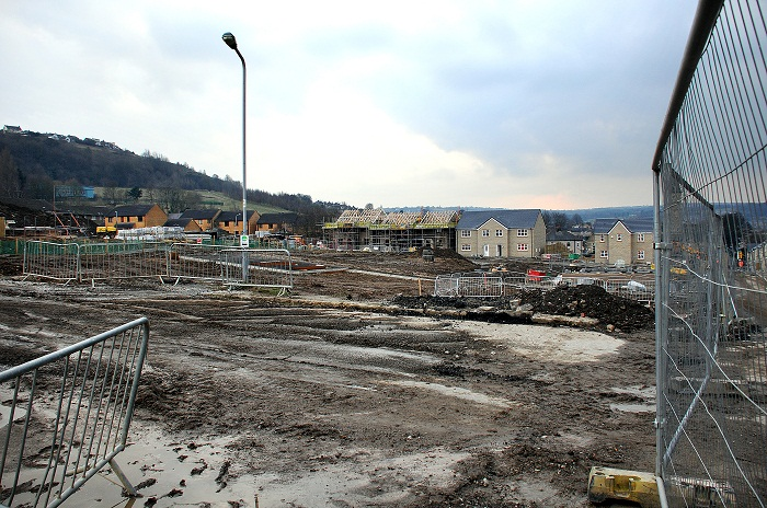 Construction work at the Windhill site