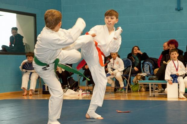 Two of the club's children compete