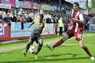 Zavon Hines – whipping in a cross in the 0-0 draw against Cheltenham on Saturday – is in buoyant mood heading into the play-offs