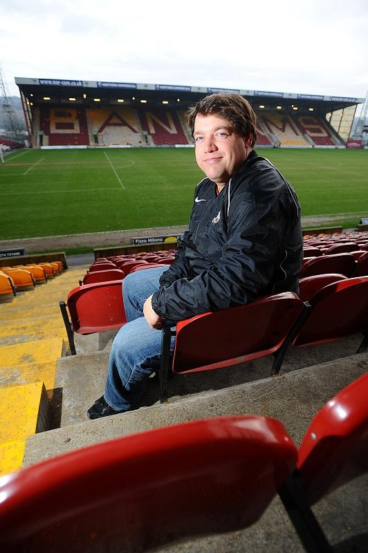Philip Ideson at Valley Parade to cheer on City as they beat Aston Villa 3-1 in the first leg semi-final of the Capital One Cup in January