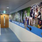 LIFE THROUGH A LENS: The player areas in the pavilion at Headingley are adorned with images and text depicting the history of the club, the history of internationals at Headingley and this year's playing squad