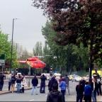 The scene in Woolwich, south London, where a man was killed and two others were taken to hospital with gunshot wounds (Yusuf_Kayalar/PA)