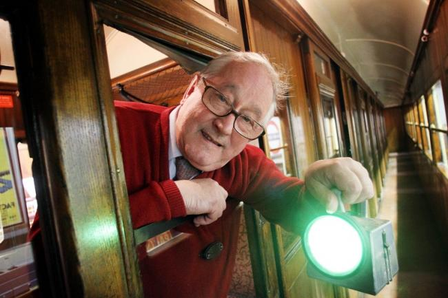 Museum of Rail Travel worker Keith Pitts is pictured preparing for the night-time opening.