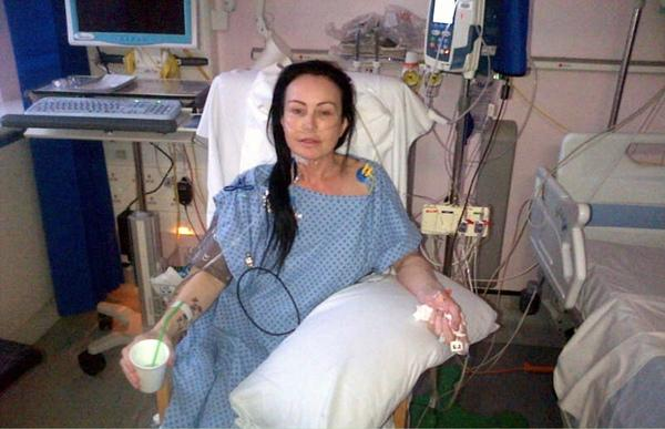 Lisa Brown in hospital