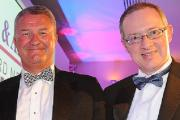 Paul Mackie with award presenter Stephen Wright from Bradford Chamber