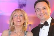 Anne Preston from the Ring O'Bells with award presenter Duncan Bower from Westfield