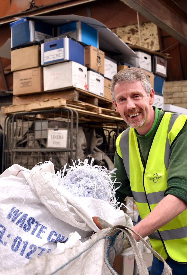 Andrew Egan, of Bradford Waste Chasers Ltd co-operative