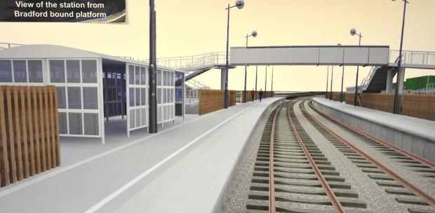 An artist's impression of Low Moor station