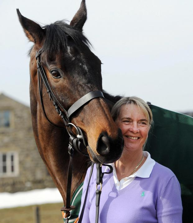 Bradford Telegraph and Argus: Auroras Encore with trainer Sue Smith