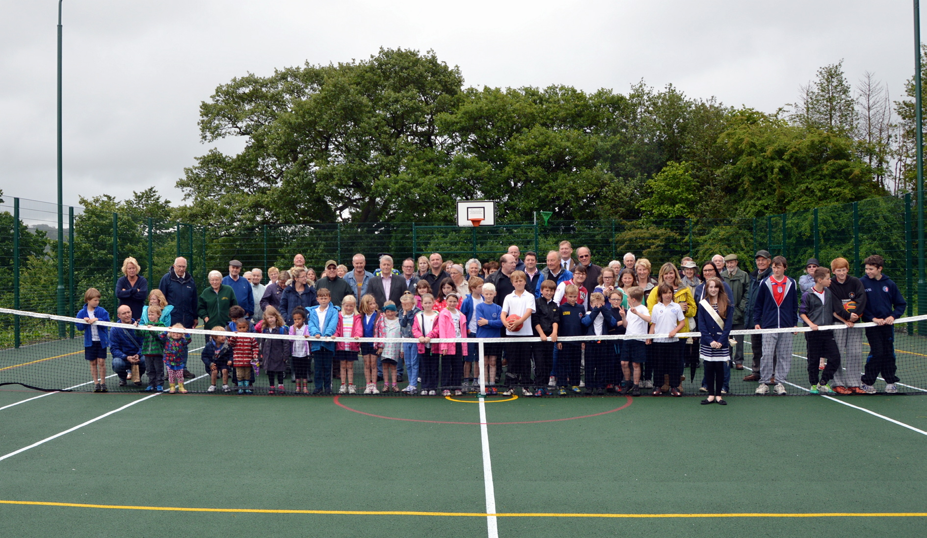 Addingham villagers at the official opening of the new games area