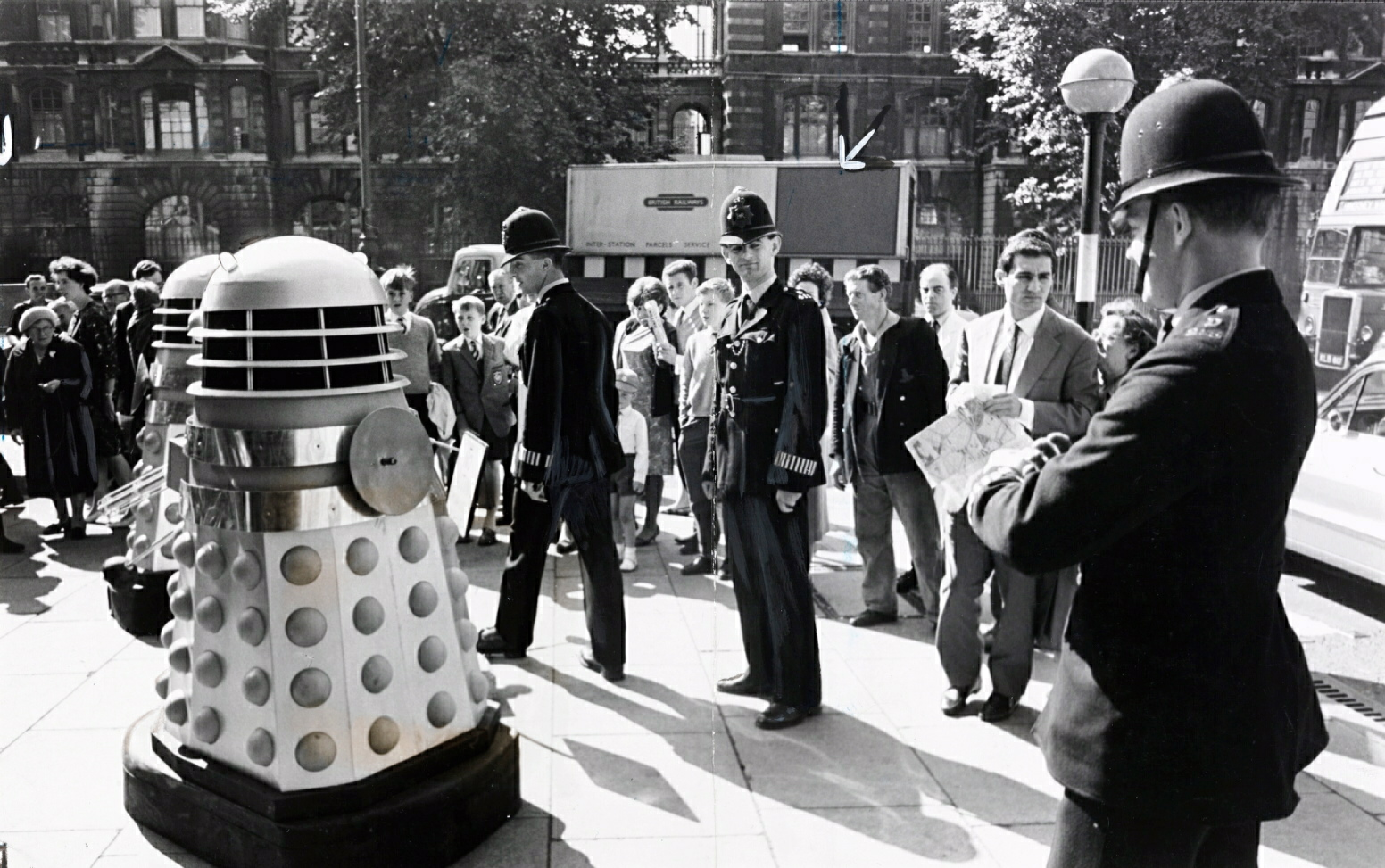 The Daleks invade London in 1964 in this archive picture courtesy of the National Media Museum/SSPL